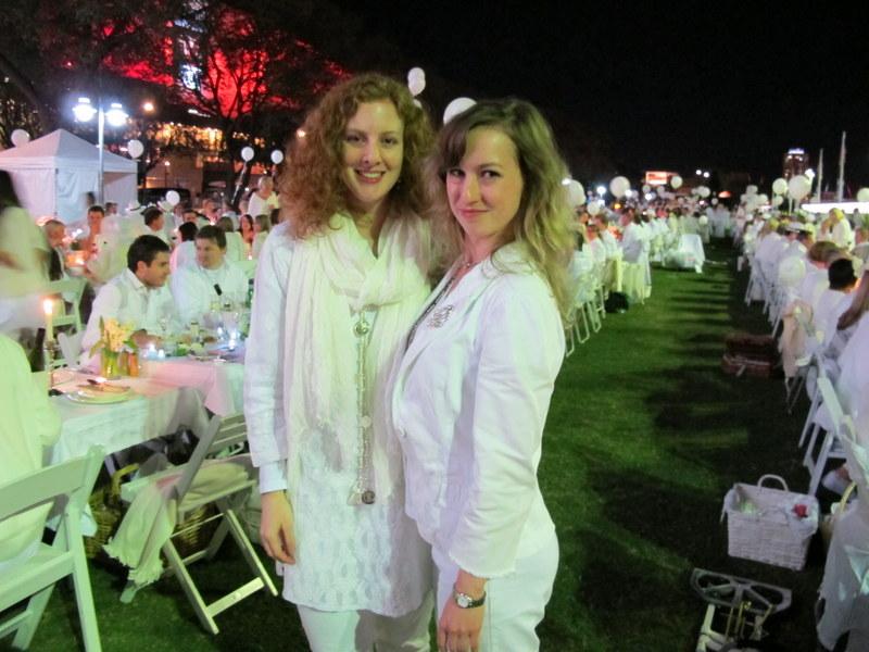 Us in our elegant whites.