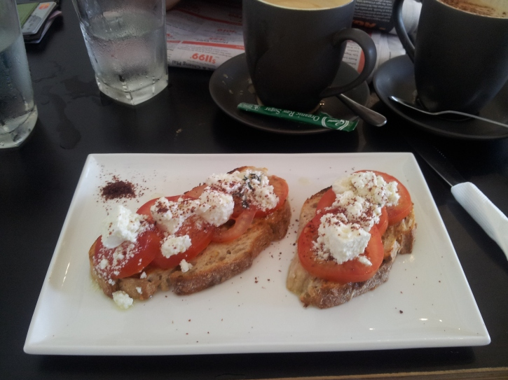 Roma tomato and Persian feta with sumac