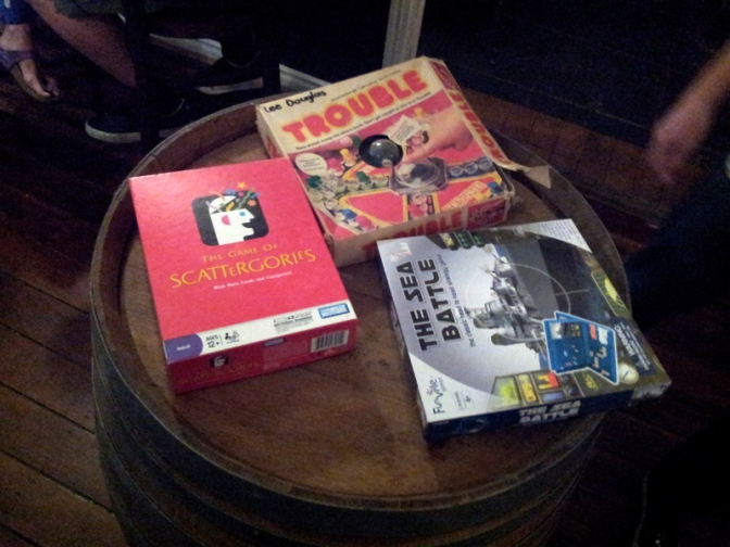 Old style board games to while away your evening and perhaps provoke arguments.