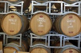 Barrels at Tobin Wines