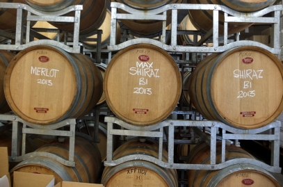 Barrels at Tobin Wines