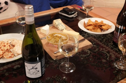 Tobin Wines Semillion Sauvignon Blanc with the nightly cheese platter.
