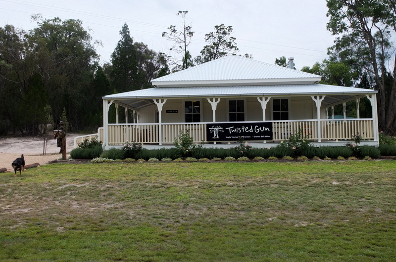 Twisted Gum Wines. The most 'Queensland'-looking and charming cellar door we visited.