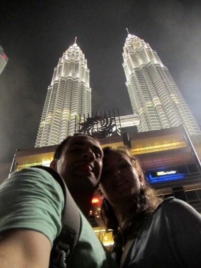 At the Petronas Towers Kuala Lumpur