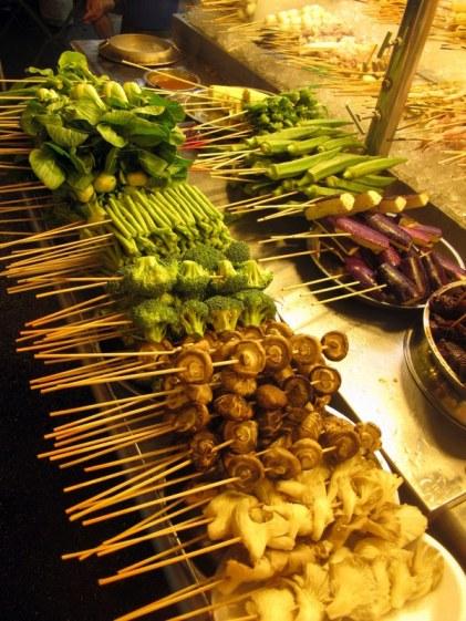 Satay street food vegetables Kuala Lumpur