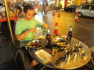 Food on the streets of Kuala Lumpur.