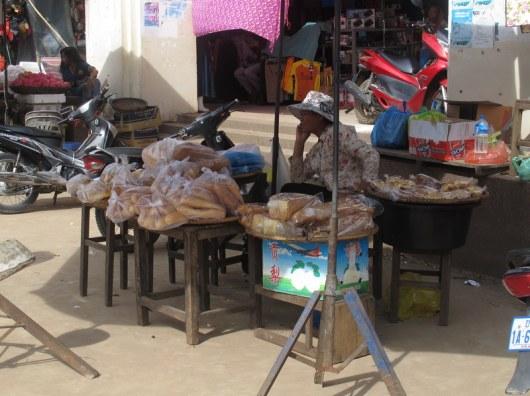 Bread seller, Kratie.