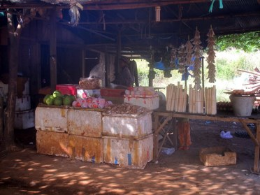 Stall at a bus rest stop, between Kratie and Kampong Cham.