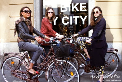 Erika-Boldrin-Eleonora-Carisi-yuriahn-dolce-and-gabbana-ss12-collection-animalier-leopard-bicycle-limited-edition-Bike-My-City-ss2012-swidesign-salonedelmobile-spiga2-spiga26-event-thestylistme-fashion-blogger-2