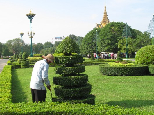 Gardeners in the Royal Palace
