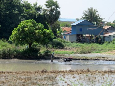 The Killing Fields are in the middle of villages. Life goes on.