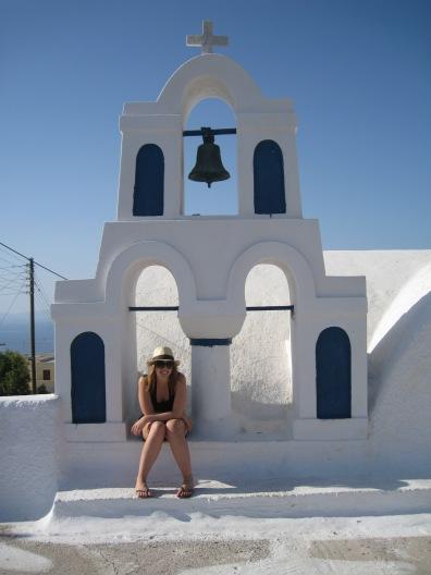 Kirst in Santorini