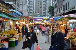 Kirst at locals markets in Hong Kong