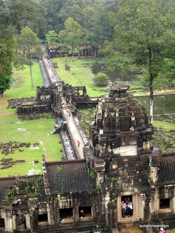 View from the top of one of the temples at Angkor.