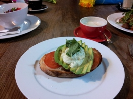 Avocado on toast at Brother Espresso
