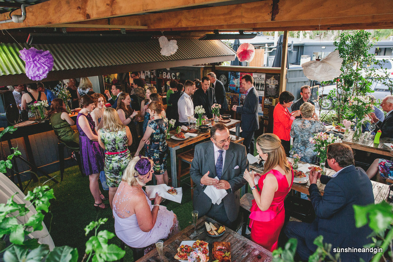 Our wedding at the Foxy Bean, Wooloongabba. All in one place means less fuss for everyone, more time to enjoy yourselves.