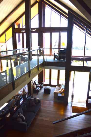Inside the lodge at Spicers Peak Lodge