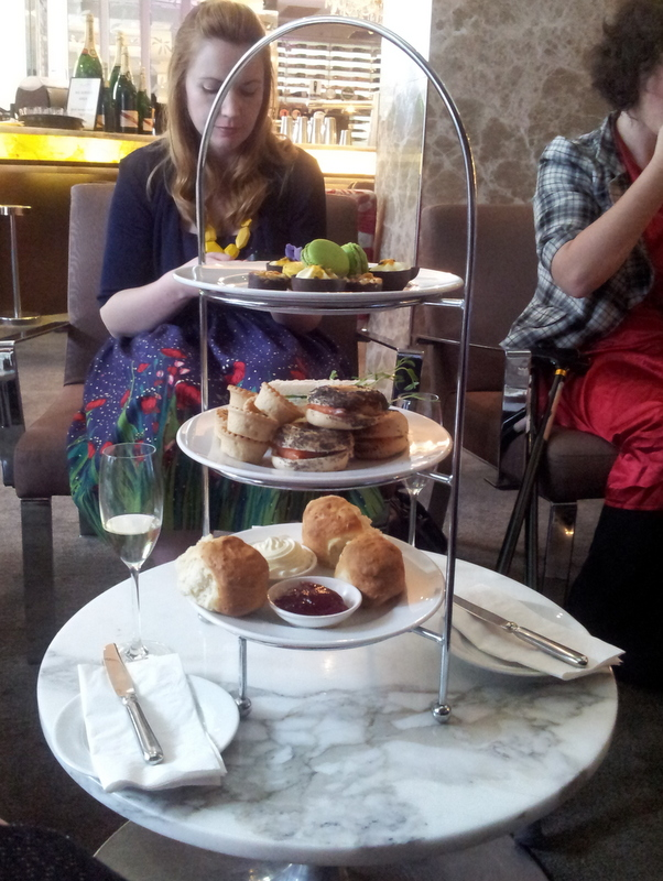 High tea at Hotel Emporium