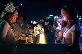 Ann and B at Diner en Blanc 2013