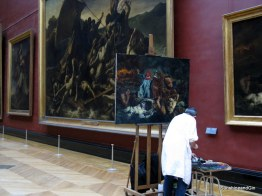 Art students in the Louvre, Paris