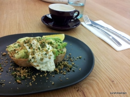 Avocado on toast with whipped feta at Irving Place