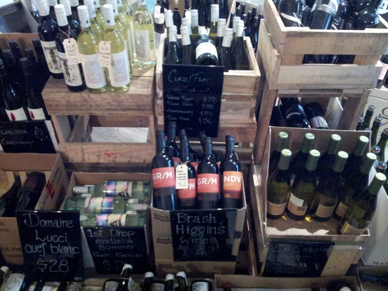 Cases of wines at Craft Red Hill