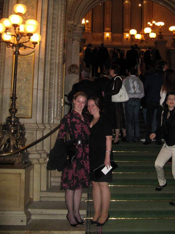On the steps of the Vienna Opera House in my heels and one dress - the latter purchased in a Copenhagen vintage shop.