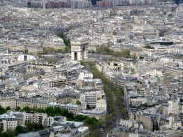 The Arc de' Triomphe from the Eiffel Tower Paris