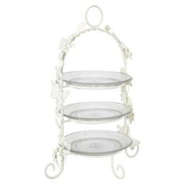 White high tea stand for Diner en Blanc
