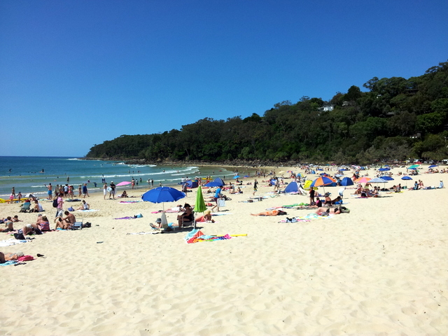 A perfect day on Noosa Beach