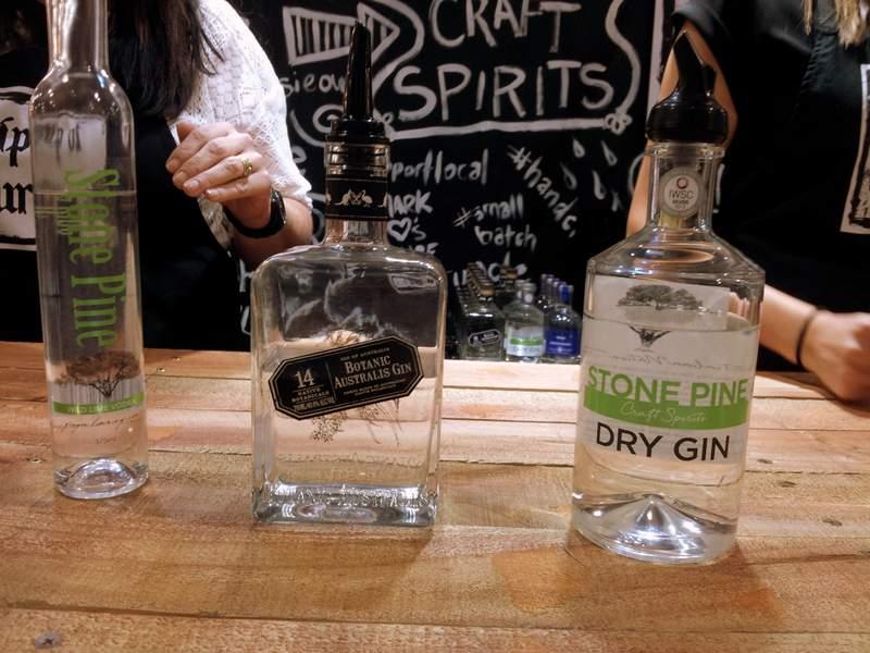 Gin tasting at Nip of Courage at GFWS