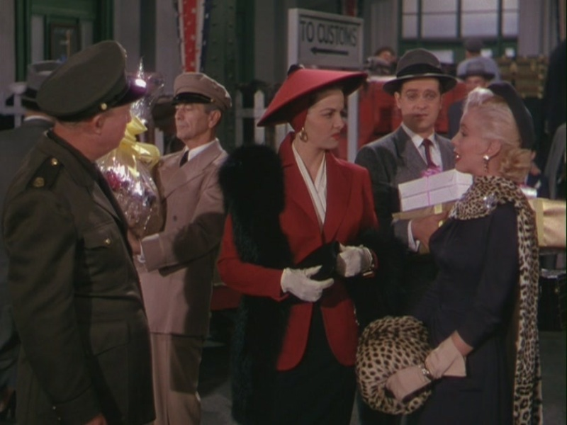 Arriving for departure in Gentlemen Prefer Blondes
