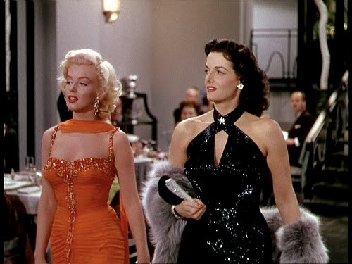 Evening couture in Gentlemen Prefer Blondes