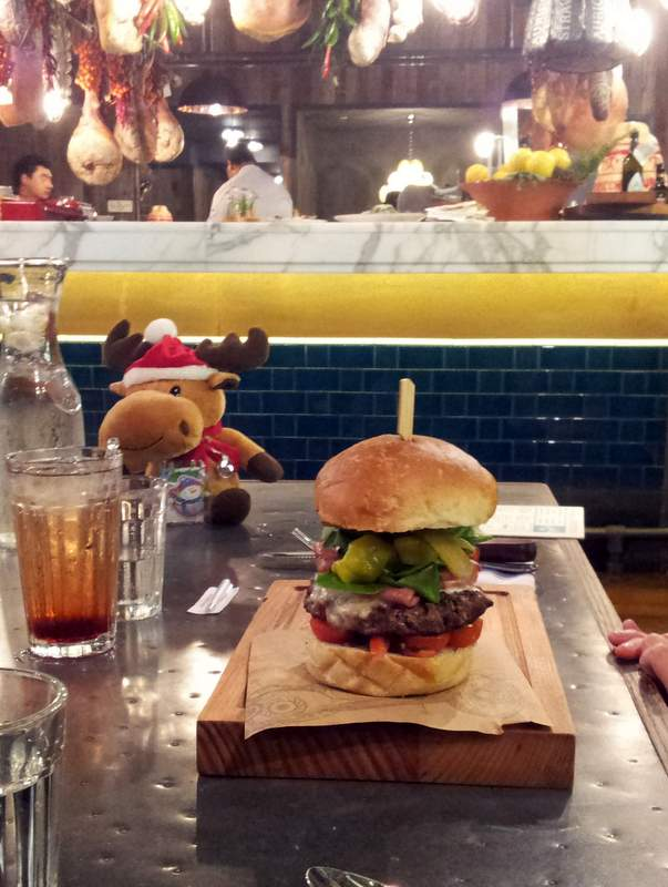 Burger at Jamie's Italian