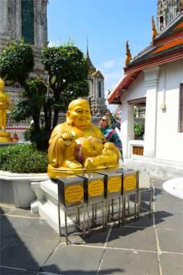 Buddhas for charity, Wat Arun, Bangkok