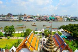 The view from Wat Arun Bangkok