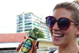 Kirst and some Chang beer, Bangkok