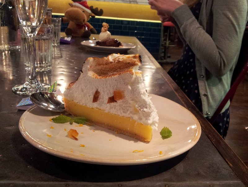 Sky-high lemon meringue pie at Jamie's Italian