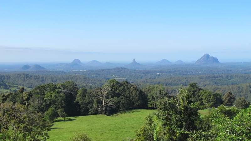 Views of the Glasshouse Mountains from Maleny 2
