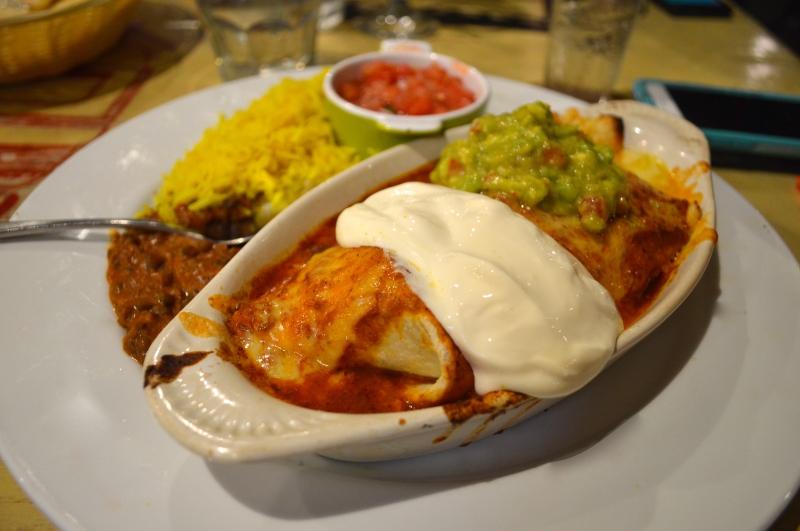 Indian burrito at Indimex