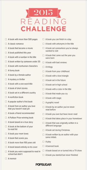 2015 reading challenge list