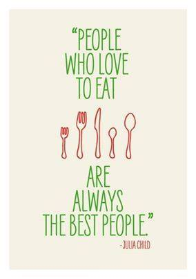 Julia Child eating quote