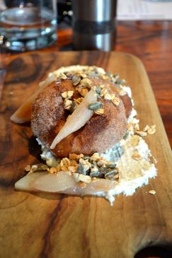 Sourdough cacao doughnuts at Mondo Organics