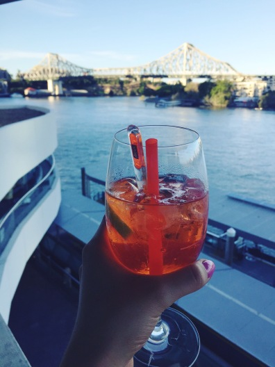 Aperol Spritz overlooking the river