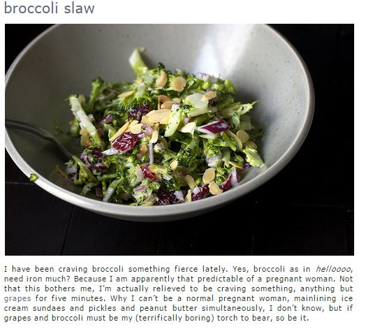 Broccoli slaw on Smitten Kitchen